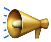 ios emoji public address loudspeaker