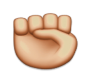 ios emoji raised fist