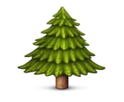 ios emoji evergreen tree