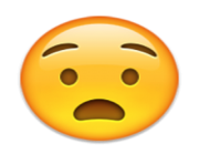 ios emoji anguished face