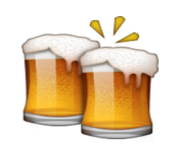 ios emoji clinking beer mugs