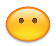 ios emoji face without mouth