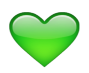 ios emoji green heart