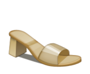 ios emoji womans sandal