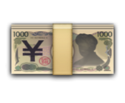 ios emoji banknote with yen sign