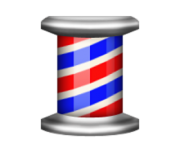 ios emoji barber pole