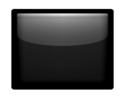 ios emoji black large square