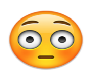 ios emoji flushed face