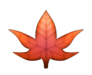 ios emoji maple leaf