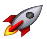 ios emoji rocket