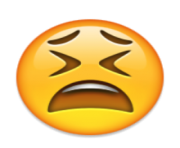 ios emoji tired face