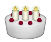 ios emoji birthday cake