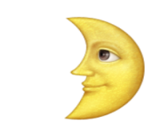 ios emoji first quarter moon with face