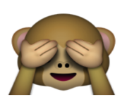 ios emoji see no evil monkey