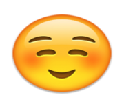 ios emoji white smiling face