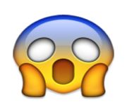 ios emoji face screaming in fear