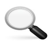 ios emoji left pointing magnifying glass