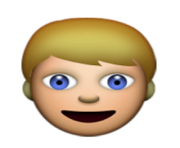 ios emoji person with blond hair