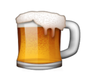 ios emoji beer mug