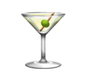 ios emoji cocktail glass