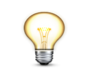 ios emoji electric light bulb