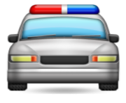 ios emoji oncoming police car