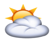 ios emoji sun behind cloud