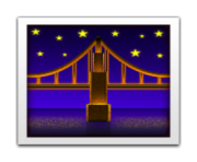 ios emoji bridge at night