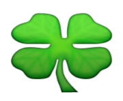 ios emoji four leaf clover
