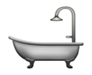 ios emoji bathtub