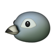 ios emoji bird