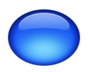 ios emoji large blue circle