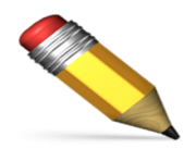 ios emoji pencil