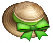 ios emoji womans hat