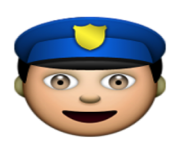 ios emoji police officer