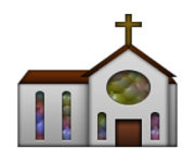 ios emoji church
