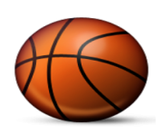 ios emoji basketball and hoop