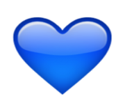 ios emoji blue heart