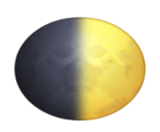 ios emoji first quarter moon symbol