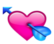 ios emoji heart with arrow