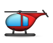 ios emoji helicopter
