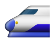 ios emoji high speed train with bullet nose