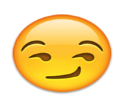 ios emoji smirking face