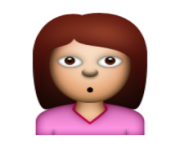 ios emoji person with pouting face