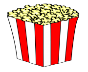 Popcorn clip art black and white free clipart images 2