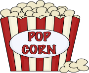Popcorn clip art black and white free clipart images