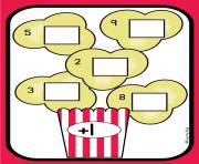 Piece of popcorn clipart
