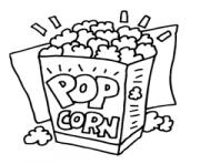 Cartoon popcorn clip art popcorn graphics clipart popcorn icon 2