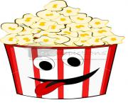 popcorn filled in funny looking tub with smiley sticking tongue out Ne5kmR clipart