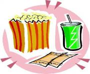 Movie rental clipart movie night clip art popcorn clipart image 1